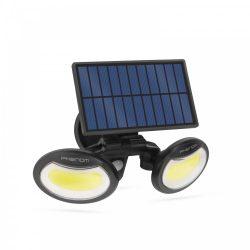 Mozgásérzékelős szolár reflektor - forgatható fejjel - 2 COB LED (55283)