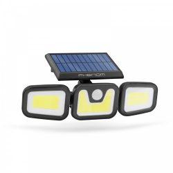 Mozgásérzékelős szolár reflektor - karos, forgatható - 3 COB LED (55284)