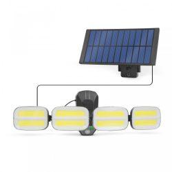 Mozgásérzékelős szolár reflektor - kábeles szolár egységgel - 8 COB LED (55285)
