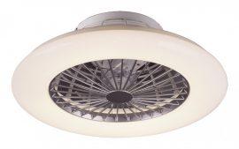 Rábalux Dalfon beltéri mennyezeti állítható színhőmérsékletű CCT LED lámpa ventillátorral, 30W, ezüst