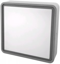 Avide (Merkur-S) Cseppálló Mennyezeti Lámpa Négyzetes IP54 12W NW 4000K Szürke ABHL54-SG-12W-NW