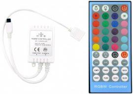 Avide LED Szalag 12V 96W RGB+W 40 Gombos IR (infra) Távirányító és Vezérlő