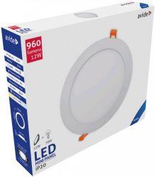 Avide LED Beépíthető Kerek Mennyezeti Lámpa ALU 12W CW 6400K