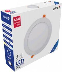 Avide LED Beépíthető Kerek Mennyezeti Lámpa ALU 6W CW 6400K