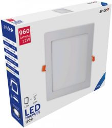 Avide LED Beépíthető Négyzetes Mennyezeti Lámpa ALU 12W CW 6400K
