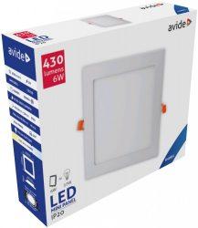Avide LED Beépíthető Négyzetes Mennyezeti Lámpa ALU 6W CW 6400K