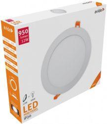 Avide LED panel Beépíthető Kerek Mennyezeti Lámpa ALU 12W NW 4000K ACRPNW-R-12W-ALU