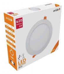 Avide LED panel Beépíthető Kerek Mennyezeti Lámpa ALU 6W NW 4000K ACRPNW-R-6W-ALU