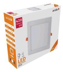 Avide LED panel Beépíthető Négyzetes Mennyezeti Lámpa ALU 6W NW 4000K