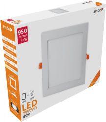 Avide LED Beépíthető Négyzetes Mennyezeti Lámpa ALU 12W NW 4000K