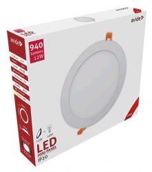 Avide LED panel Beépíthető Kerek Mennyezeti Lámpa ALU 12W WW 3000K ACRPWW-R-12W-ALU