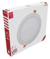 Avide LED panel Beépíthető Kerek Mennyezeti Lámpa ALU 18W WW 3000K ACRPWW-R-18W-ALU