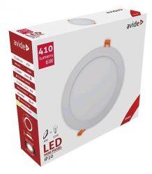 Avide LED panel Beépíthető Kerek Mennyezeti Lámpa ALU 6W WW 3000K ACRPWW-R-6W-ALU