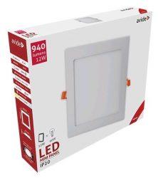 Avide LED Beépíthető Négyzetes Mennyezeti Lámpa ALU 12W WW 3000K ACRPWW-S-12W-ALU