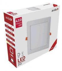 Avide LED panel Beépíthető Négyzetes Mennyezeti Lámpa ALU 6W WW 3000K ACRPWW-S-6W-ALU