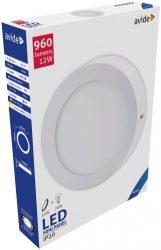Avide LED Falra Szerelhető Kerek Mennyezeti Lámpa ALU 12W CW 6400K