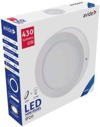 Avide LED Falra Szerelhető Kerek Mennyezeti Lámpa ALU 6W CW 6400K