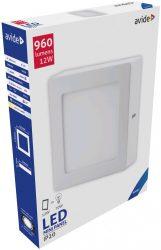 Avide LED Falra Szerelhető Négyzetes Mennyezeti Lámpa ALU 12W CW 6400K