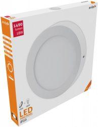 Avide LED Falra Szerelhető Kerek Mennyezeti Lámpa ALU 18W NW 4000K ACSMNW-R-18W-ALU