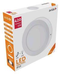 Avide LED Falra Szerelhető Kerek Mennyezeti Lámpa ALU 6W NW 4000K ACSMNW-R-6W-ALU
