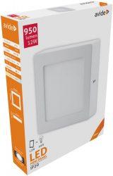 Avide LED Falra Szerelhető Négyzetes Mennyezeti Lámpa ALU 12W NW 4000K ACSMNW-S-12W-ALU