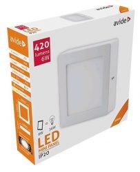 Avide LED Falra Szerelhető Négyzetes Mennyezeti Lámpa ALU 6W NW 4000K ACSMNW-S-6W-ALU