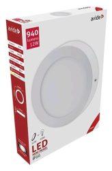 Avide LED Falra Szerelhető Kerek Mennyezeti Lámpa ALU 12W WW 3000K ACSMWW-R-12W-ALU