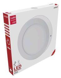 Avide LED Falra Szerelhető Kerek Mennyezeti Lámpa ALU 18W WW 3000K ACSMWW-R-18W-ALU