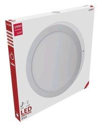 Avide LED Falra Szerelhető Kerek Mennyezeti Lámpa ALU 24W WW 3000K ACSMWW-R-24W-ALU
