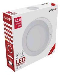 Avide LED Falra Szerelhető Kerek Mennyezeti Lámpa ALU 6W WW 3000K ACSMWW-R-6W-ALU