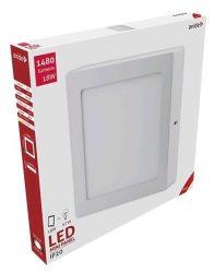 Avide LED Falra Szerelhető Négyzetes Mennyezeti Lámpa ALU 18W WW 3000K ACSMWW-S-18W-ALU