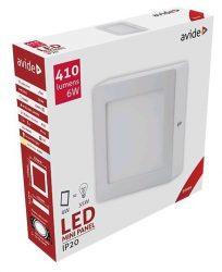 Avide LED Falra Szerelhető Négyzetes Mennyezeti Lámpa ALU 6W WW 3000K ACSMWW-S-6W-ALU
