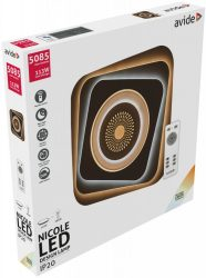 Avide Nicole Mennyezeti LED lámpa (113W - 5085 lm) CCT, RF távirányítóval (ADO3S-113W-NIC-2.4G)