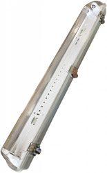 AVIDE Por és Páramentes lámpatest 2 LED fénycsőhöz 1.2m, fém békazárral ATPF-2X36W