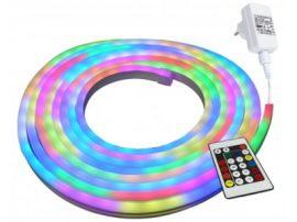 Commel Led Neon flex fénykábel szett 5m RGB 60led IP44 flexibilis