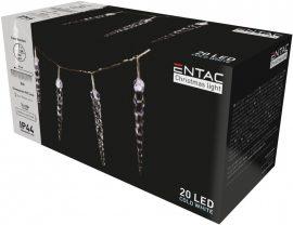 Entac Karácsonyi IP44 20 LED Műanyag 16cm Jégcsapfüzér CW 3m (ECL-I20CW16)