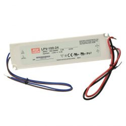 MW LPV-100-24 IP67 190x52x37 mm 24V DC 100W