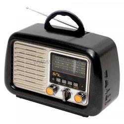 SOMOGYI SAL Retro táskarádió és multimédia lejátszó RRT 2B