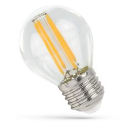 LED Kisgömb E27 230V 4W COG filament WW 3000K Üveg