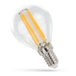 LED Kisgömb E14 230V 6W COG filament WW 3000K üveg