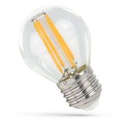 LED Kisgömb E27 230V 6W COG filament WW 3000K Üveg