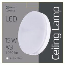 EMOS LED MENNYEZETI LÁMPA 15W NW IP44 ZM4301