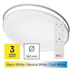 EMOS LED mennyezeti lámpa 24W 80-1920lm dimm. állítható színhőmérséklet (ZM5165)